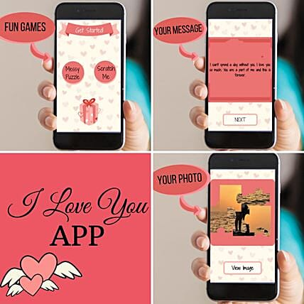 Personalised I Love You APP With Animation: Valentine Gifts