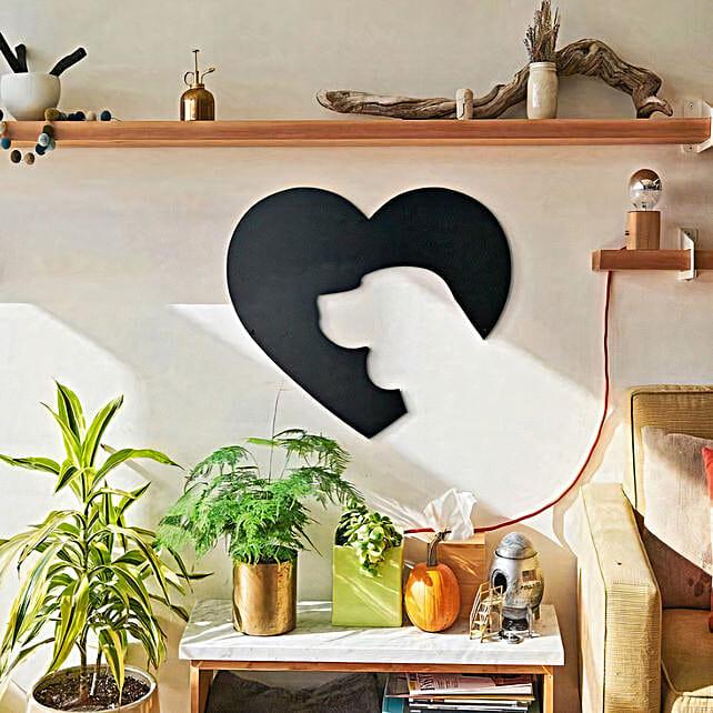 Dog Heart Cute Wall Art: Gift For Karwa Chauth