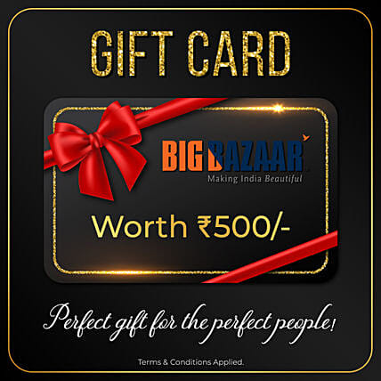 Big Bazaar Gift Card- 500 Rs: Send Gift Cards