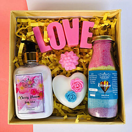 Pamper Your Love Skin Care Hamper: Valentines Day Gifts