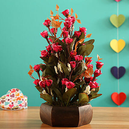 Dark Pink Mini Bud Arrangement: Valentine Gifts