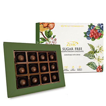 Zevic Assorted Sugar Free Almond Chocolates Pack: Valentine Gifts