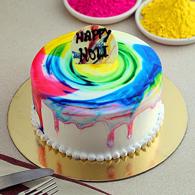 Holi Celebration Cake: Holi Gifts