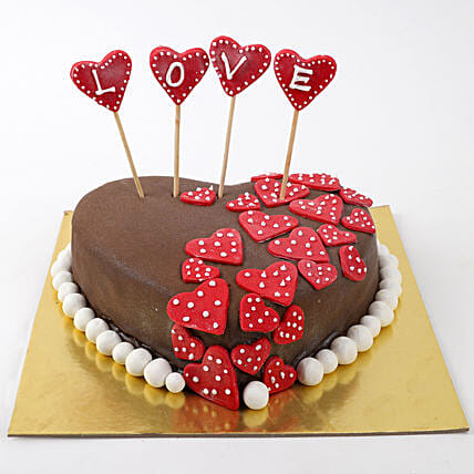Valentine Red Hearts Cake: 25Th Anniversary Cakes