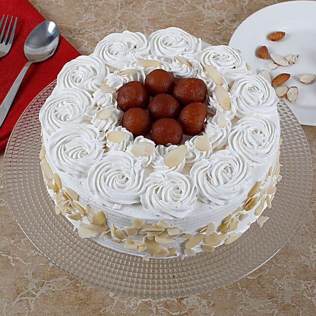 Vanilla Fusion Gulab Jamun Cake: Send Vanilla Cakes
