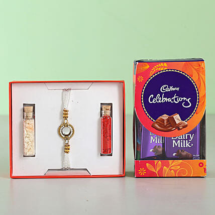 White Stone Rakhi & Cadbury Celebrations: Raksha Bandhan Chocolates