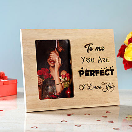You Are Perfect Engraved Wooden Photo Frame: Photo Frames