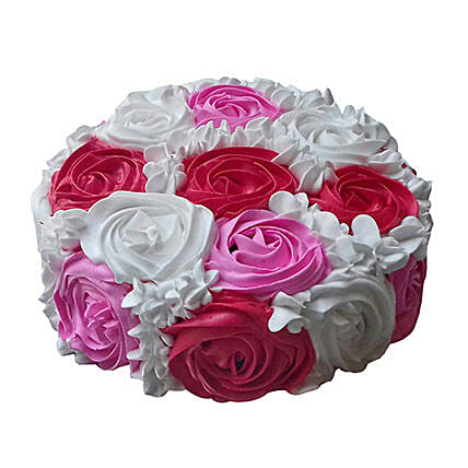 Yummy Colourful Rose Cake: Send Designer Cakes