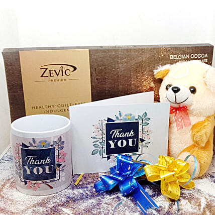 Zevic Dark Chocolate Thank You Hamper: Thank You Gifts