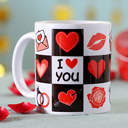 I Love You Printed Mug: Send Mugs to Malaysia