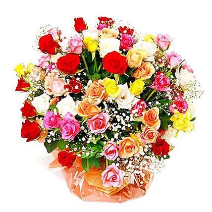 Multicolored Roses: Send Flowers to Mauritius