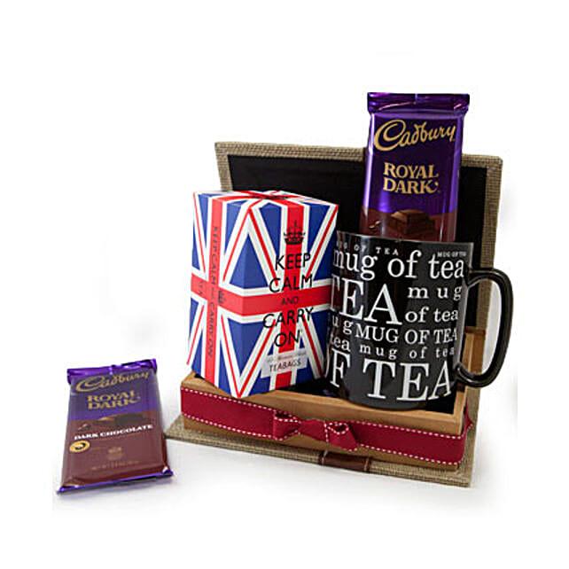 Keep Calm Tea Set: Gift Baskets to Qatar