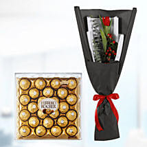 tulip with chocolate box surprise online