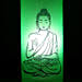 Lord Buddha Lamp-1 green coloured lord buddha bottle lamp