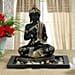 Black meditating Buddha