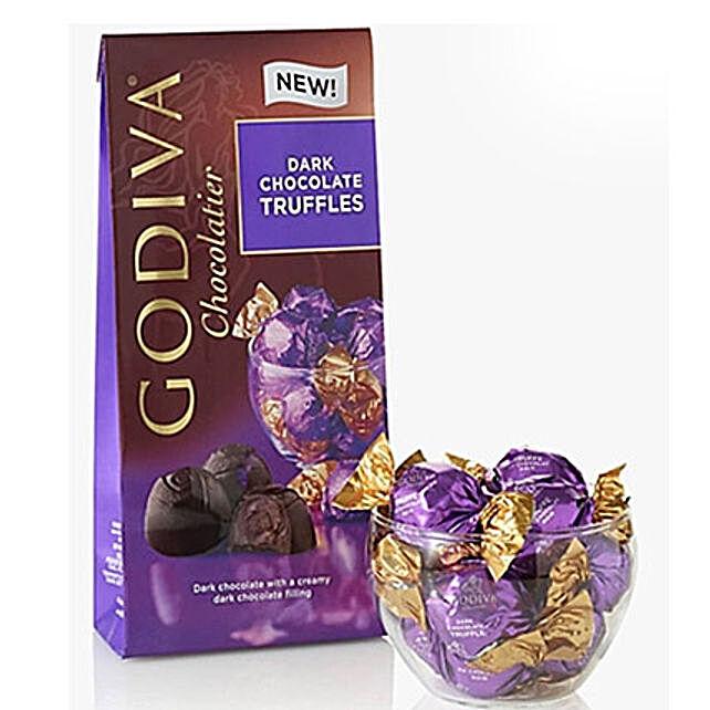 Godiva Dark Chocolate Truffles: Send Fathers Day Gifts to Saudi Arabia