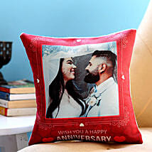 Personalised Anniversary Red Heart Cushion
