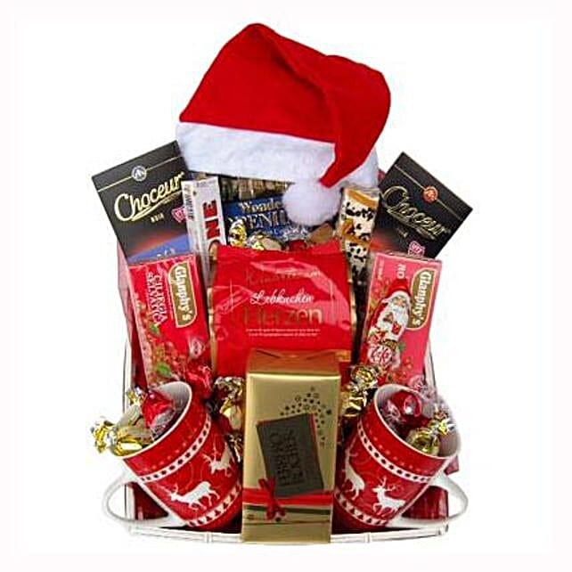 Santa Christmas Tea Basket: Send Gifts to Sweden