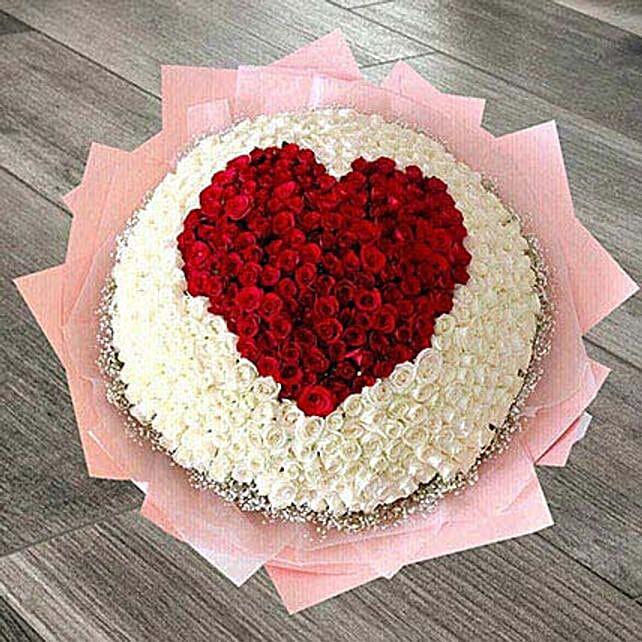 400 Heart Roses Arrangement: Premium Gifts UAE