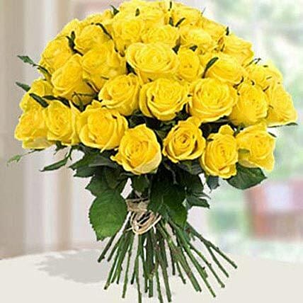 30 Yellow Roses Bouqet: Send Flower Bouquet to UAE