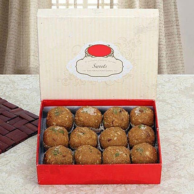 Box of Dry Fruit Besan Laddoo: Send Sweets to UAE