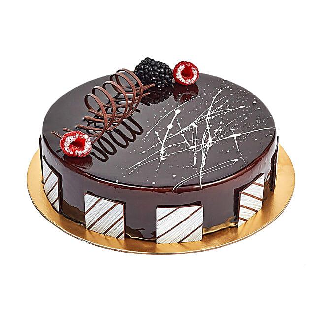 Chocolate Truffle Birthday Cake: Send Birthday Gifts to Abu Dhabi