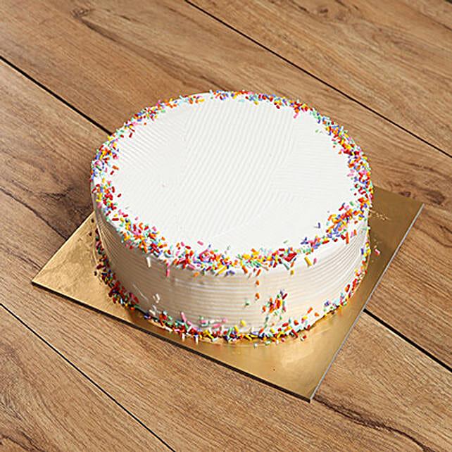 Eggless Rainbow Cake: