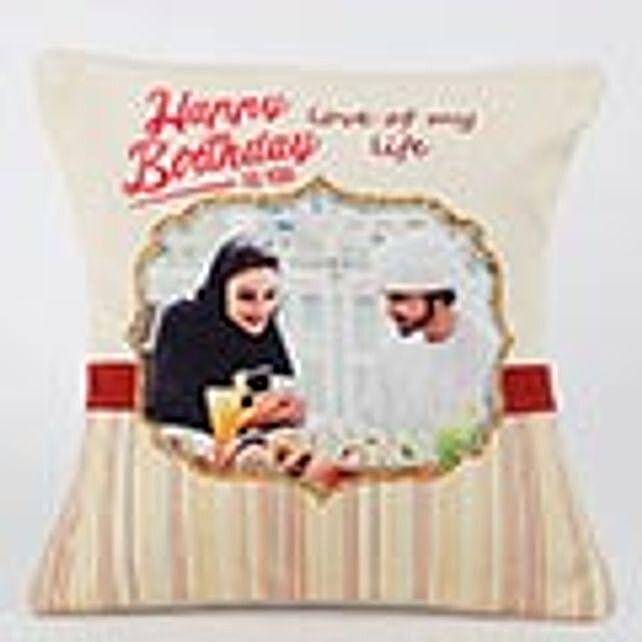 Romantic Birthday Personalized Cushion: Birthday Gifts to Abu Dhabi