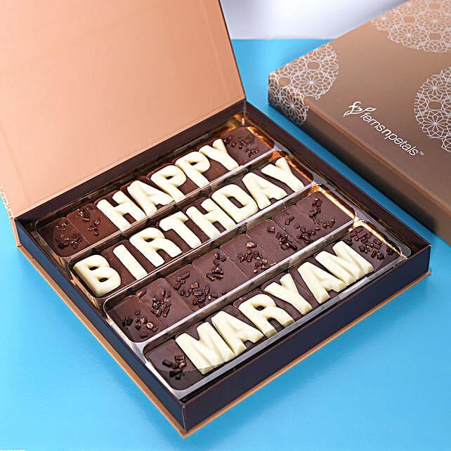 Customized Happy Birthday Chocolate: Birthday Gifts to Abu Dhabi