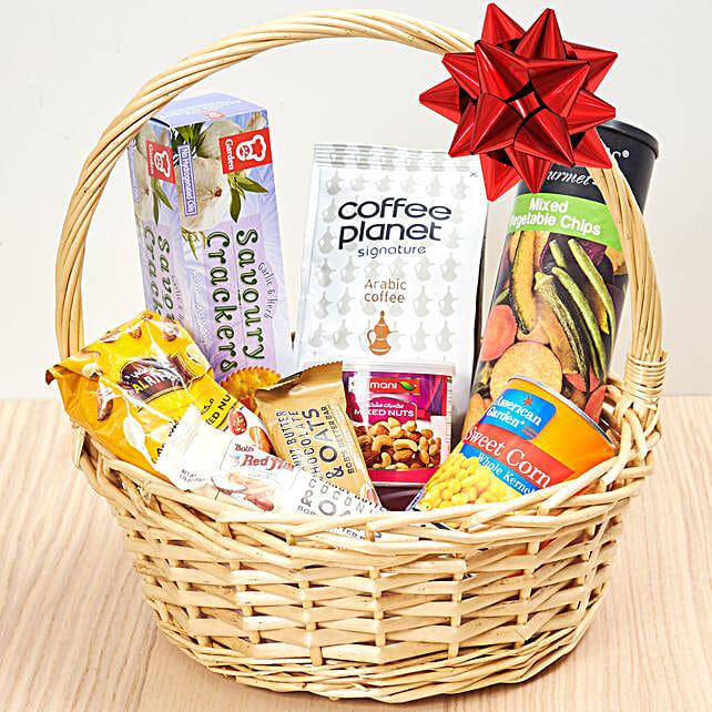 Coffee And Snacks Basket: Gift Baskets to UAE