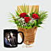 Personalised Mug and Red Roses