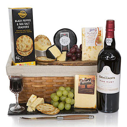 Luxury Port And Cheese Hamper: Father's Day Presents to UK