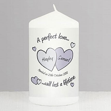 Perfect Love Personalized Wedding Candle: Personalised Gifts for Husband in UK