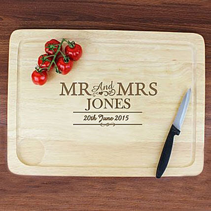 Personalized Mr And Mrs Meat Carving Board: Personalised Gifts for Husband in UK