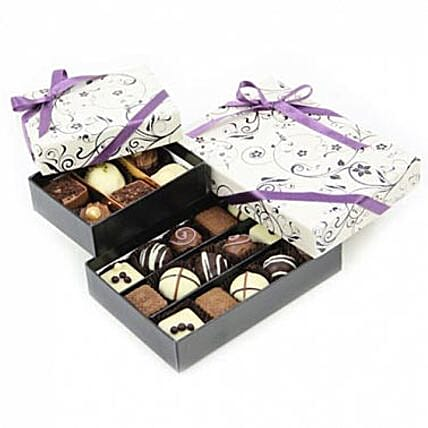 Two Tier Choco Box: Send Christmas Gifts to UK