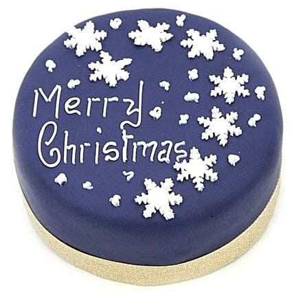 Blue Merry Christmas Cake: Cake Delivery in UK
