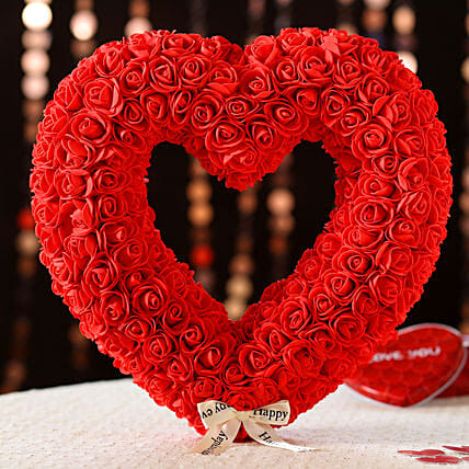 Heart Shaped Decor Item: Send Propose Day Gifts to UK