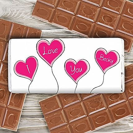 Personalized Heart Balloons Milk Chocolate: Personalised Gifts for Husband in UK