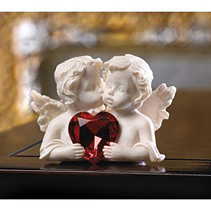 Two In Love Cherub Figurine Birthday Gifts To USA