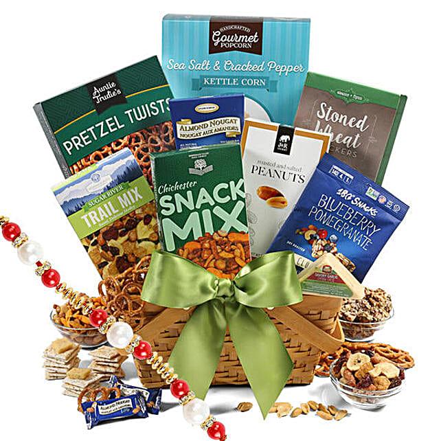 Healthy Gift Basket With Rakhi: Rakhi Delivery in USA