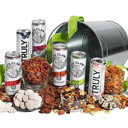 Seltzer And Snack Combo: Wine Hampers to USA