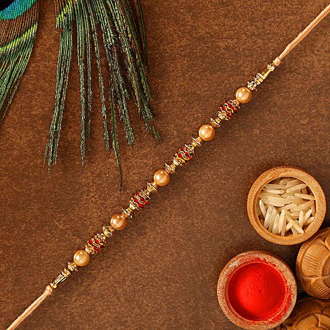 Traditional Golden Rakhi: Send Rakhi to USA