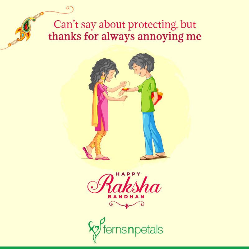 raksha bandhan lines in english
