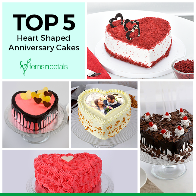 Top 5 Heart Shaped Anniversary Cakes Ferns N Petals