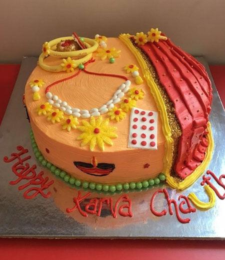 karva chauth cakes