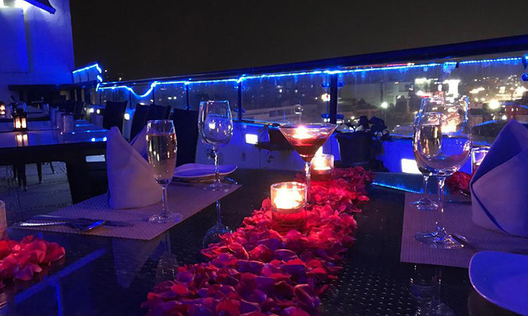 Rooftop Candle Light Dinner for Valentines