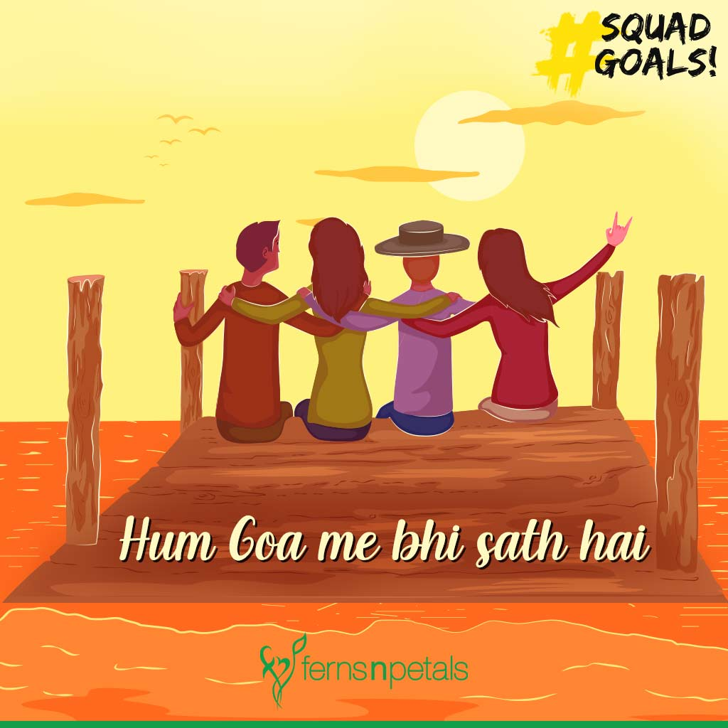 friendship day squad goal greetings