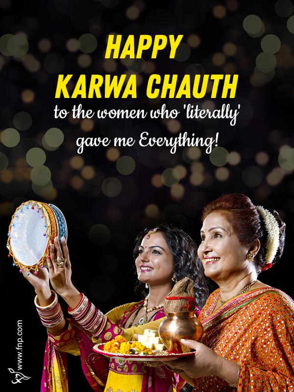 wishing for karwa chauth