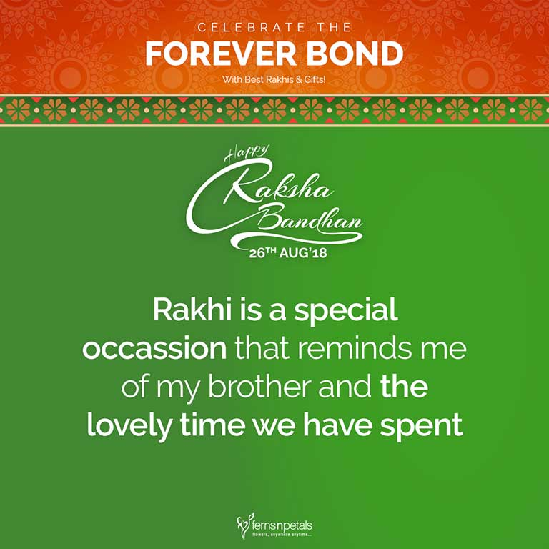 rakhi quote for brother