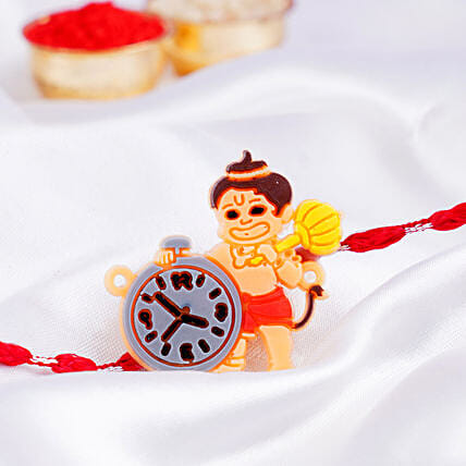 Bal Hanuman Clock Rakhi:Rakhi for Kids in Australia